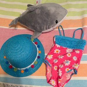 Other - 3 piece beach/bathingsuit set! TODDLER top & suit